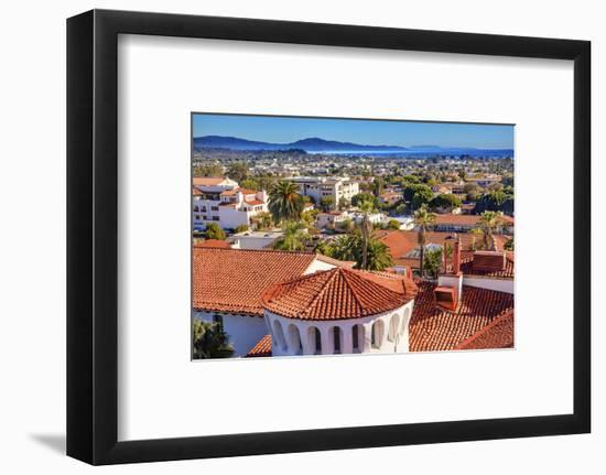 Court House Building Santa Barbara, California-William Perry-Framed Photographic Print