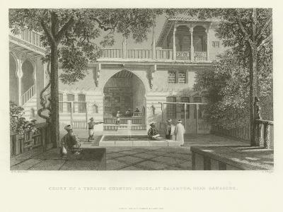 Court of a Turkish Country House, Salahyeh, Near Damascus, 1837--Giclee Print