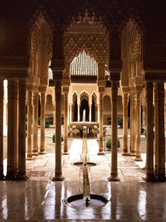Court of the Lions, 14th century, Alhambra Palace, Spain