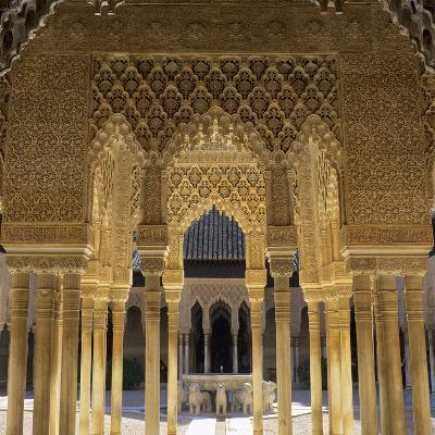 Court of the Lions, Alhambra Palace, UNESCO World Heritage Site, Granada, Andalucia, Spain, Europe-Stuart Black-Photographic Print