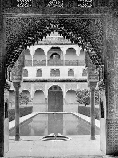 Court of the Myrtles, Alhambra, Spain, 1893-John L Stoddard-Giclee Print