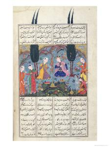 Court Scene in a Garden, Illustration from the Shahnama