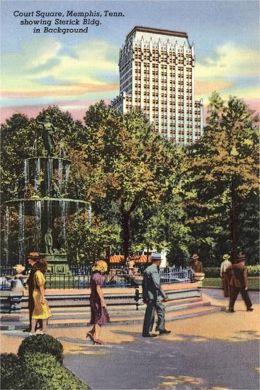 Court Square, Memphis--Art Print