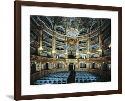 Court Theatre, Inaugurated in 1769 by Ferdinand IV--Framed Giclee Print
