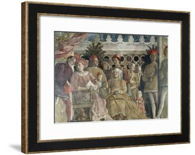 Court Wall, the Central Scene, 1465-1474-Andrea Mantegna-Framed Giclee Print