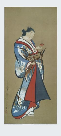 Courtesan with a Toy--Art Print