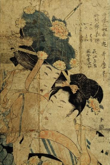 Courtesans from Hagi, C1805-C1810-Kitagawa Utamaro II-Giclee Print