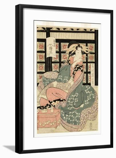 Courtesans of the Ogiya Brothel, C.1810-15-Kikukawa Eizan-Framed Giclee Print
