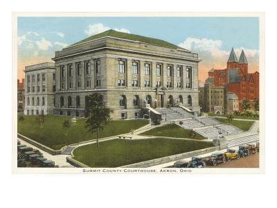 Courthouse, Akron, Ohio--Art Print