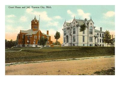 Courthouse and Jail, Traverse City, Michigan--Art Print