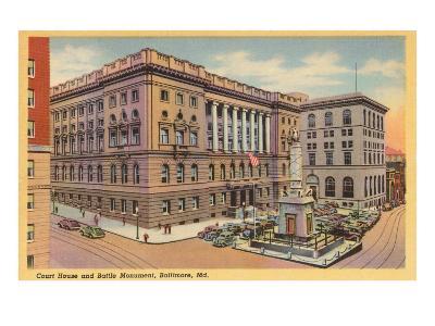 Courthouse, Baltimore, Maryland--Art Print