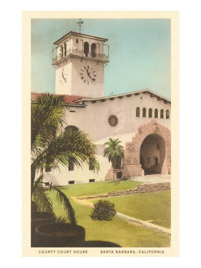 Courthouse, Santa Barbara, California--Art Print