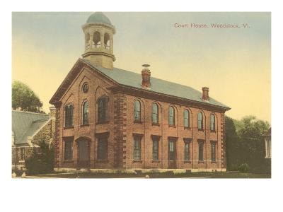 Courthouse, Woodstock, Vermont--Art Print