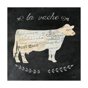 La Vache Cameo Sq by Courtney Prahl