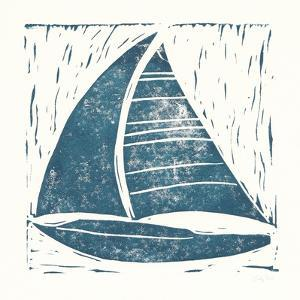 Nautical Collage on White IV by Courtney Prahl