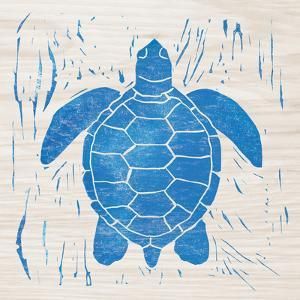 Sea Creature Turtle Blue by Courtney Prahl
