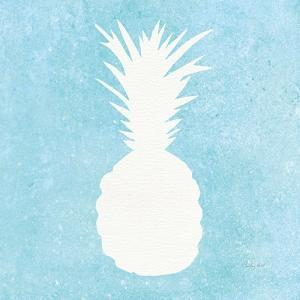 Tropical Fun Pineapple Silhouette I by Courtney Prahl