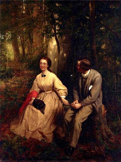 Courtship, 1864-65-George Cochran Lambdin-Giclee Print