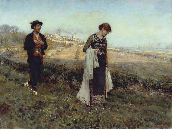 Courtship-Francesco Paolo Michetti-Giclee Print