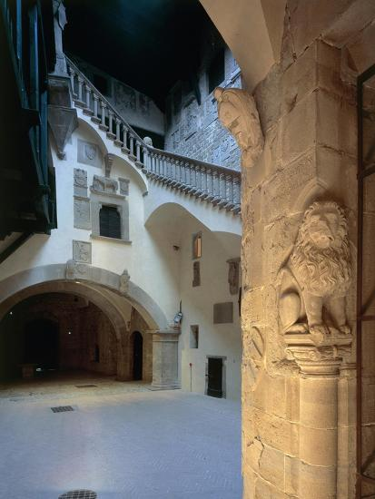 Courtyard and Staircase, Magistrate Palace Palazzo Pretorio--Giclee Print