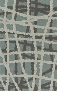 "Courtyard Area Rug - Slate Blue/Charcoal 5' x 7'6"""