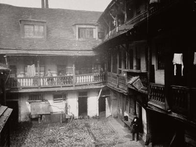 Courtyard at the Oxford Arms Inn, Warwick Lane, from the First Floor, City of London, 1875--Photographic Print
