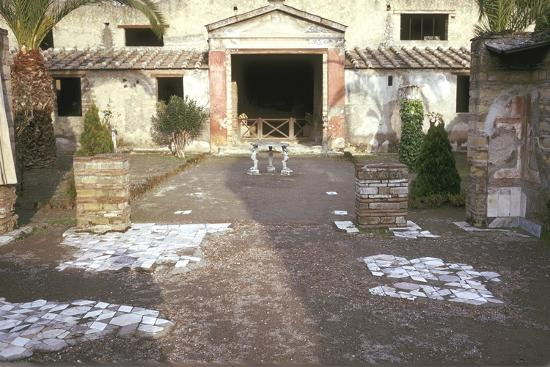 Courtyard at the Roman Villa, the House of the Stags, Herculaneum, Italy-CM Dixon-Photographic Print