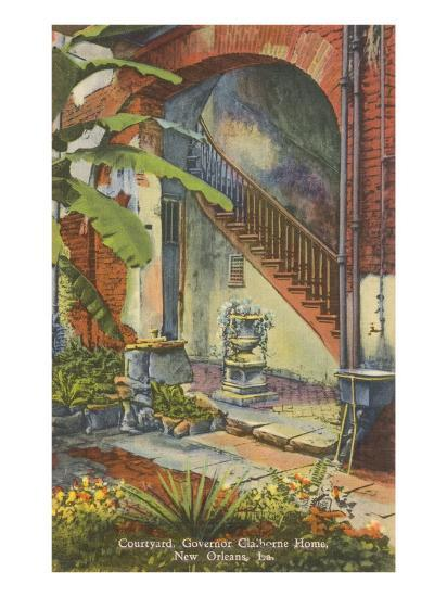Courtyard, Claiborne Home, New Orleans, Louisiana--Art Print