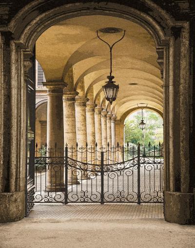 Courtyard Colonnade-Kenneth Gregg-Art Print