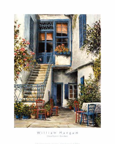 Courtyard Garden-William Mangum-Art Print