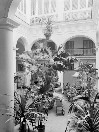 Courtyard, Hotel Florida, Havana, Cuba--Photo