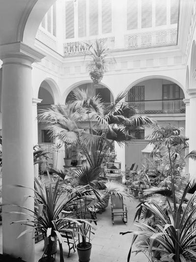 Courtyard, Hotel Florida, Havana, Cuba--Photo