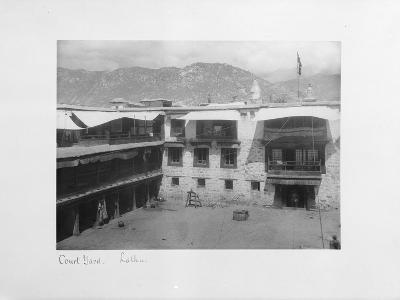 Courtyard, Lalhu, Tibet, 1903-04-John Claude White-Giclee Print