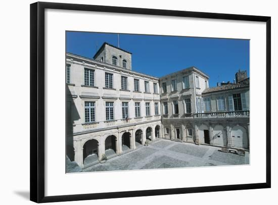 Courtyard of a Castle, Chateau De Simiane, Valreas, Provence-Alpes-Cote D'Azur, France--Framed Photographic Print