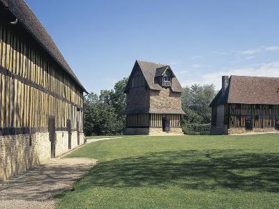 Courtyard of a Castle, Crevecoeur-En-Auge Castle, Calvados, Basse-Normandy, France--Photographic Print