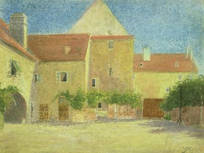 Courtyard of a Forge-Egon Schiele-Giclee Print