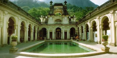 Courtyard of a Mansion, Parque Lage, Jardim Botanico, Corcovado, Rio De Janeiro, Brazil--Photographic Print
