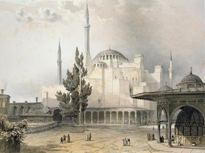 Courtyard of Hagia Sophia-Gaspard Fossati-Giclee Print