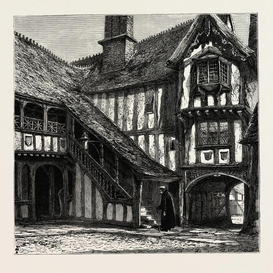 Courtyard of Leicester's Hospital, UK--Giclee Print