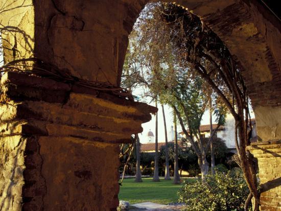 Courtyard of Mission San Juan Capistrano, California, USA-John & Lisa Merrill-Photographic Print