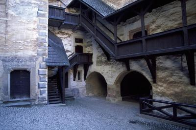 Courtyard of Orava Castle, Oravsky Podzamok, Zilina, Slovakia--Giclee Print