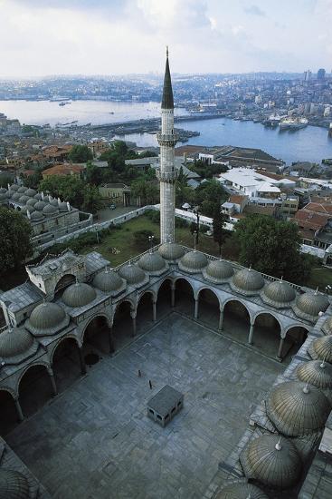 Courtyard of Suleymaniye Mosque (Suleymaniye Camii)--Photographic Print
