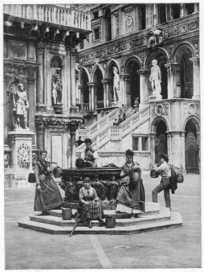 Courtyard of the Ducal Palace, Venice, Late 19th Century-John L Stoddard-Giclee Print