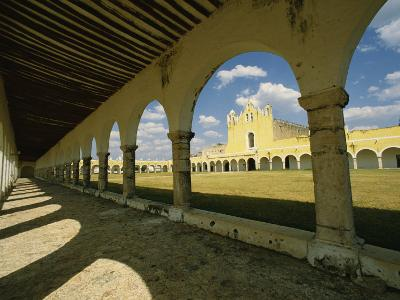 Courtyard of the Great Monastery of Izamal-Martin Gray-Photographic Print