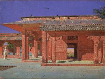 Courtyard of the Harem in the Fatehpur Sikri Imperial Palace, 1874-1876-Vasili Vasilyevich Vereshchagin-Giclee Print