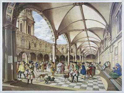 Courtyard of the Royal Exchange, London, 1960--Giclee Print