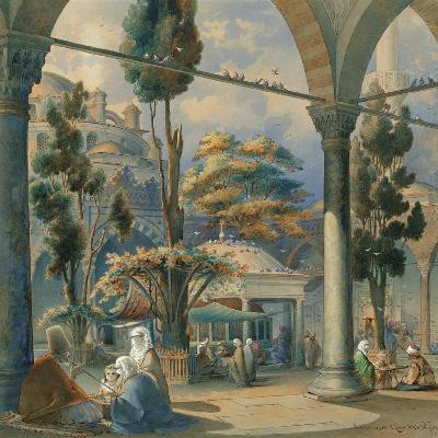 Courtyard of the Sultan Bayezid Mosque in Constantinople-Amedeo Preziosi-Giclee Print