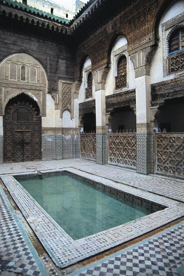 Courtyard, Sahrij Madrasa--Giclee Print