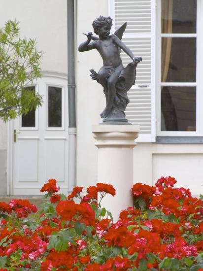 Courtyard Statue of Cupid, Amour De Deutz at Champagne Deutz, Ay, Vallee De La Marne, France-Per Karlsson-Photographic Print