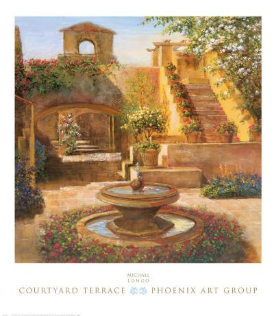 Courtyard Terrace-Michael Longo-Art Print